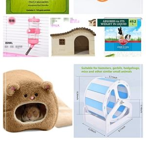 Hamster accessories 50% off + free items